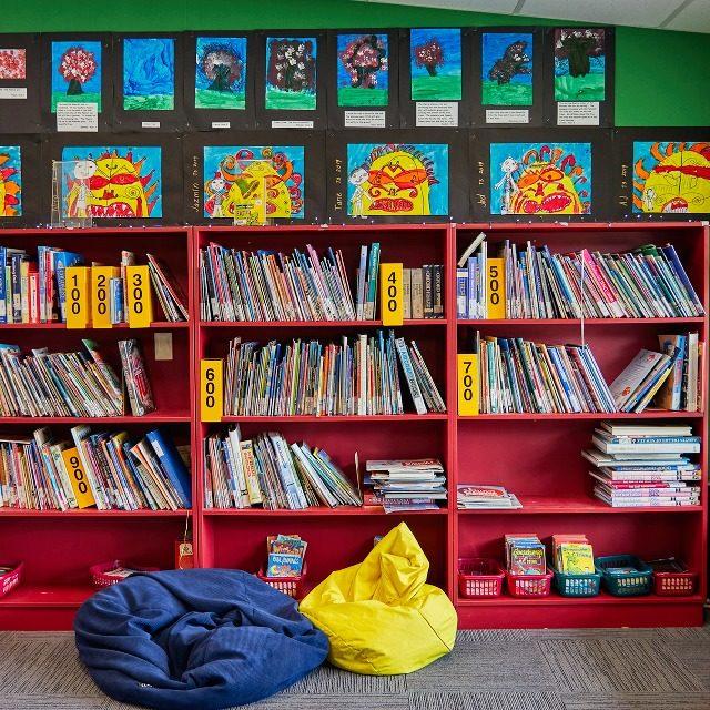 Spring Creek School library