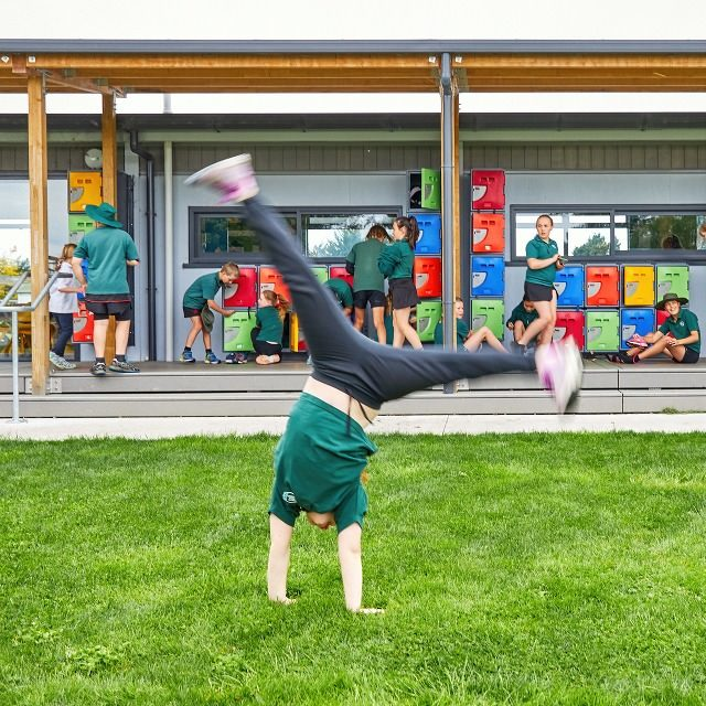 Spring Creek School cartwheels